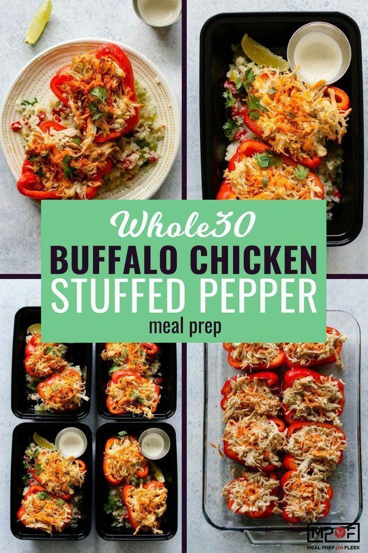 Buffalo Chicken Stuffed Pepper Meal Prep  Essenszubereitung auf Fleek  30 recipe stuffed peppers Buffalo Chicken Stuffed Pepper Meal Prep  Essenszubereitung auf Fleek