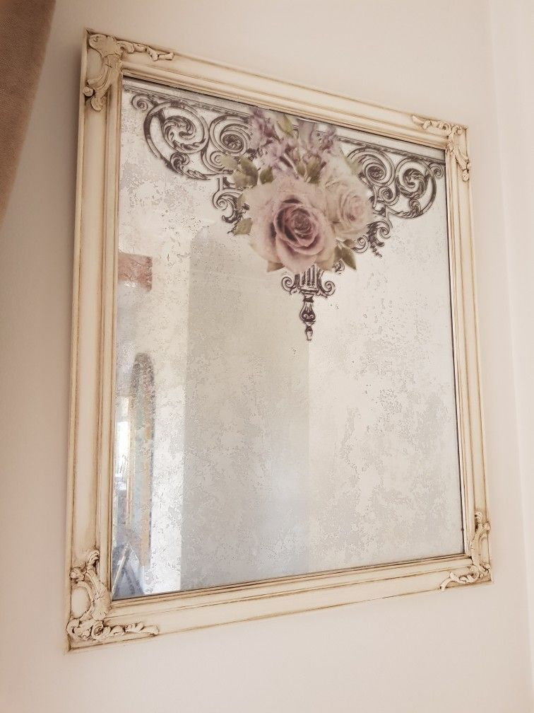 Redesign Prima Transfer On A Faux Painted Mirror Miss