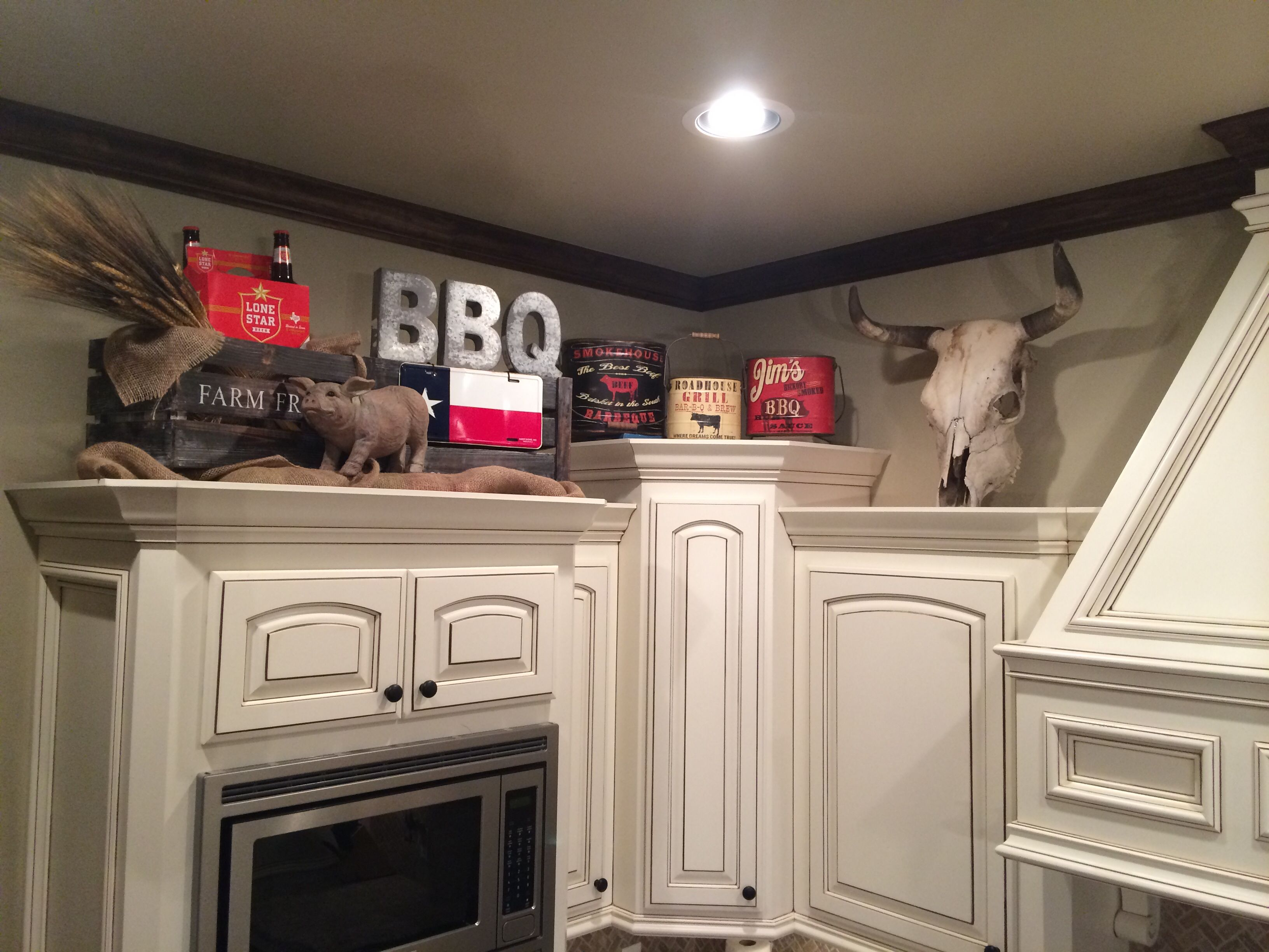 kitchen cabinets decor Texas BBQ decor Letters Michael s