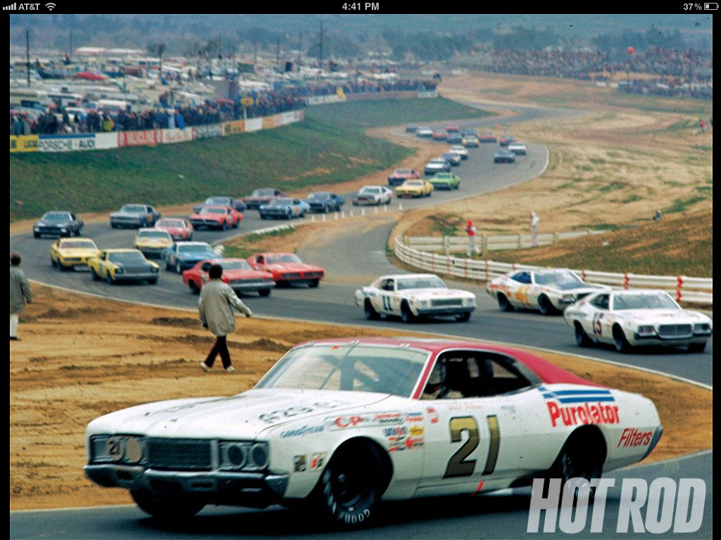 David Pearson In The Wood Bros 21 At Riverside International