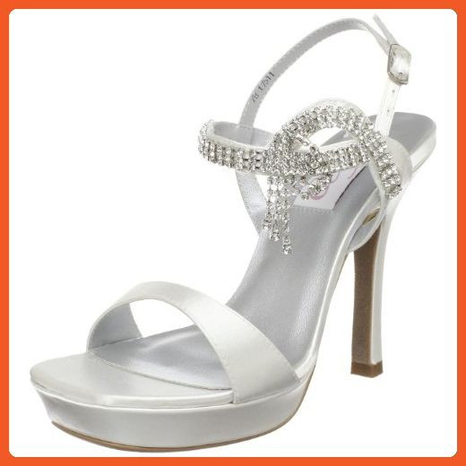 5666827474564 Dyeables Women's Jen Platform Sandal,White Satin,5 B US - Sandals ...