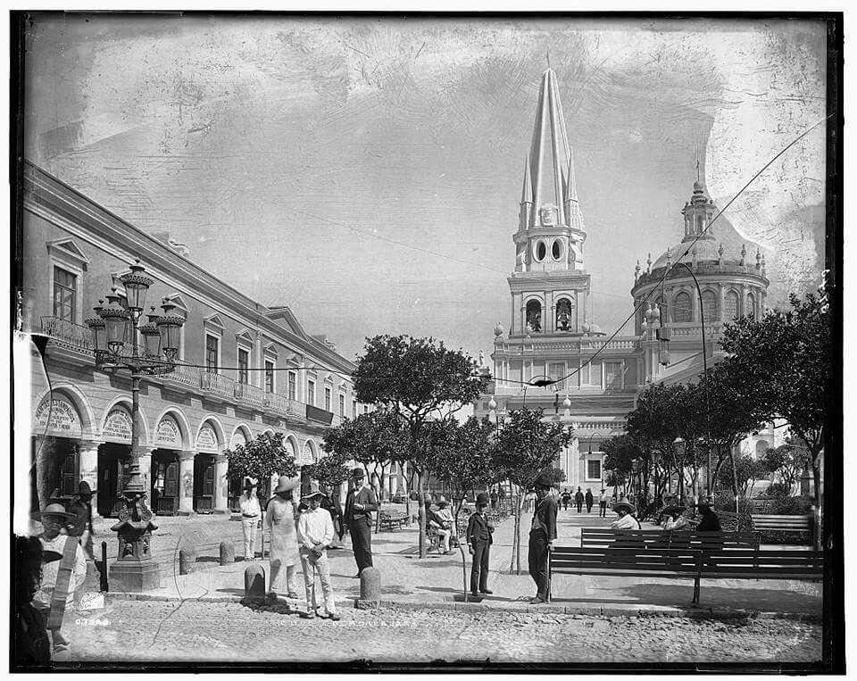 Guadalajara,1880, plaza de armas