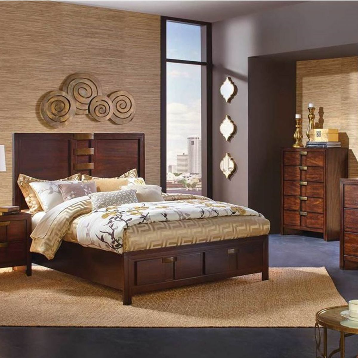 Diplomat Chestnut 5 Pc King Bedroom Bedroom Sets Furniture Queen Bedroom Sets King Bedroom
