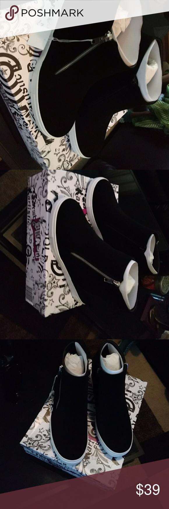 3ac8d1f6587 Women Cece Hidden Wedge Casual Shoes Women CECE black suede ankle boots.  CECE Shoes Ankle