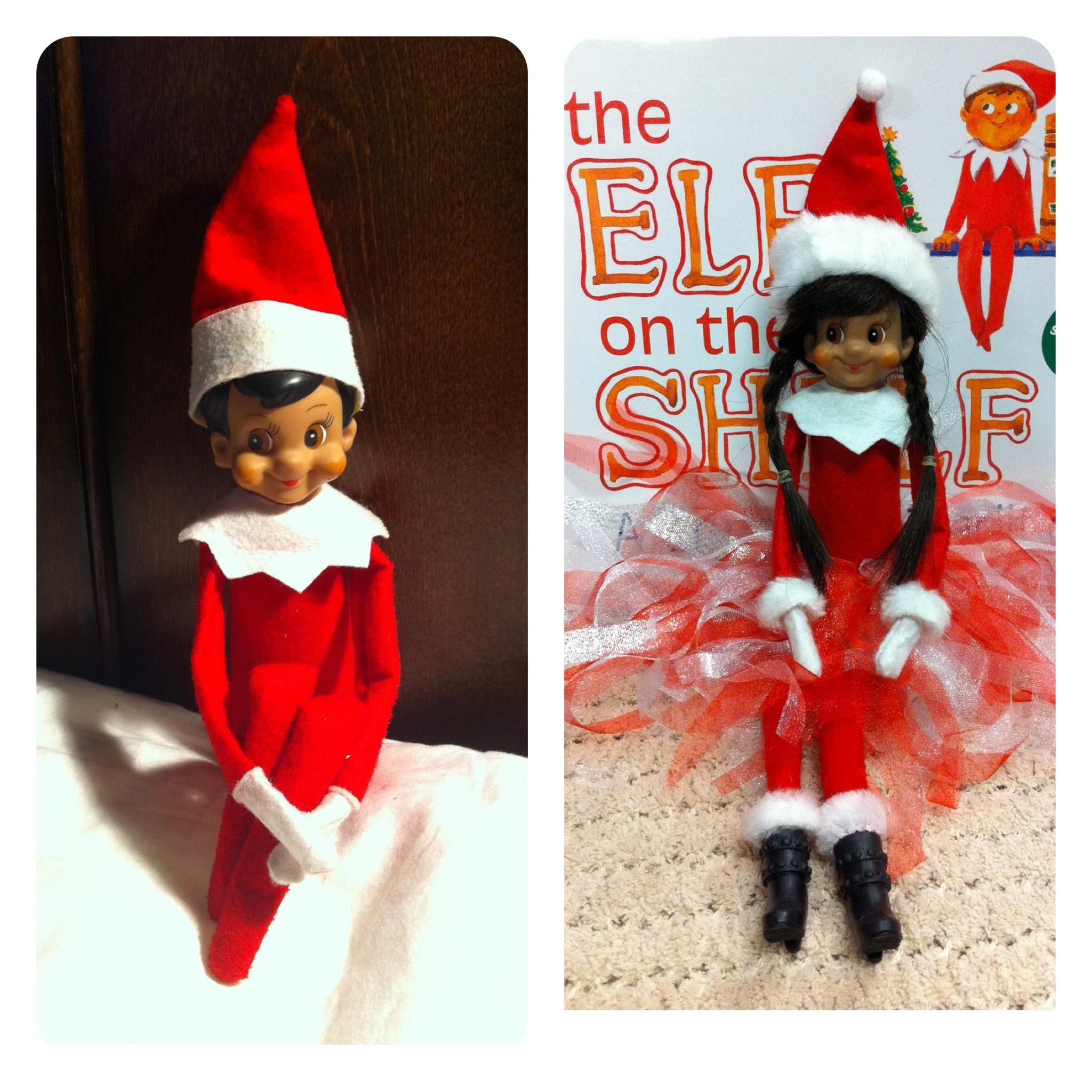 Elf on the Shelf Plush Toy Christmas Green and Pink Set