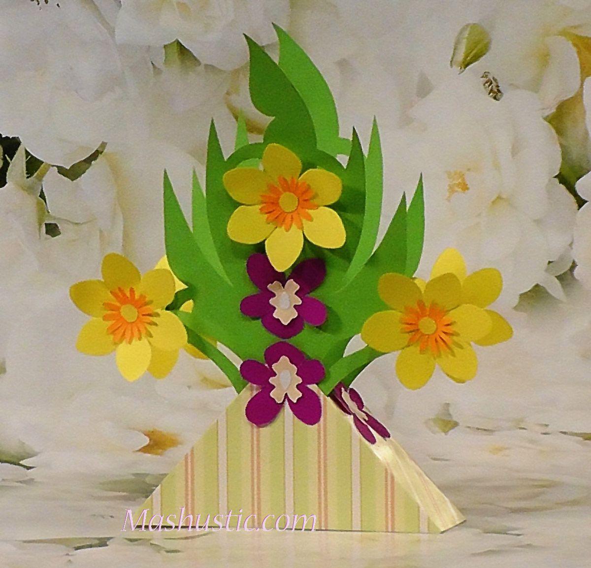 Easy Paper Flower Bouquets For Kids Mashustic Com Paper
