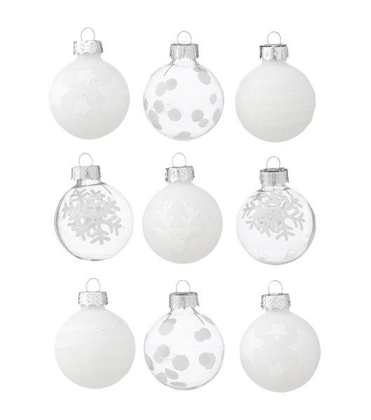 Christbaumkugeln Glas Transparent.9er Pack Weihnachtskugeln Glas Hema Weihnachten