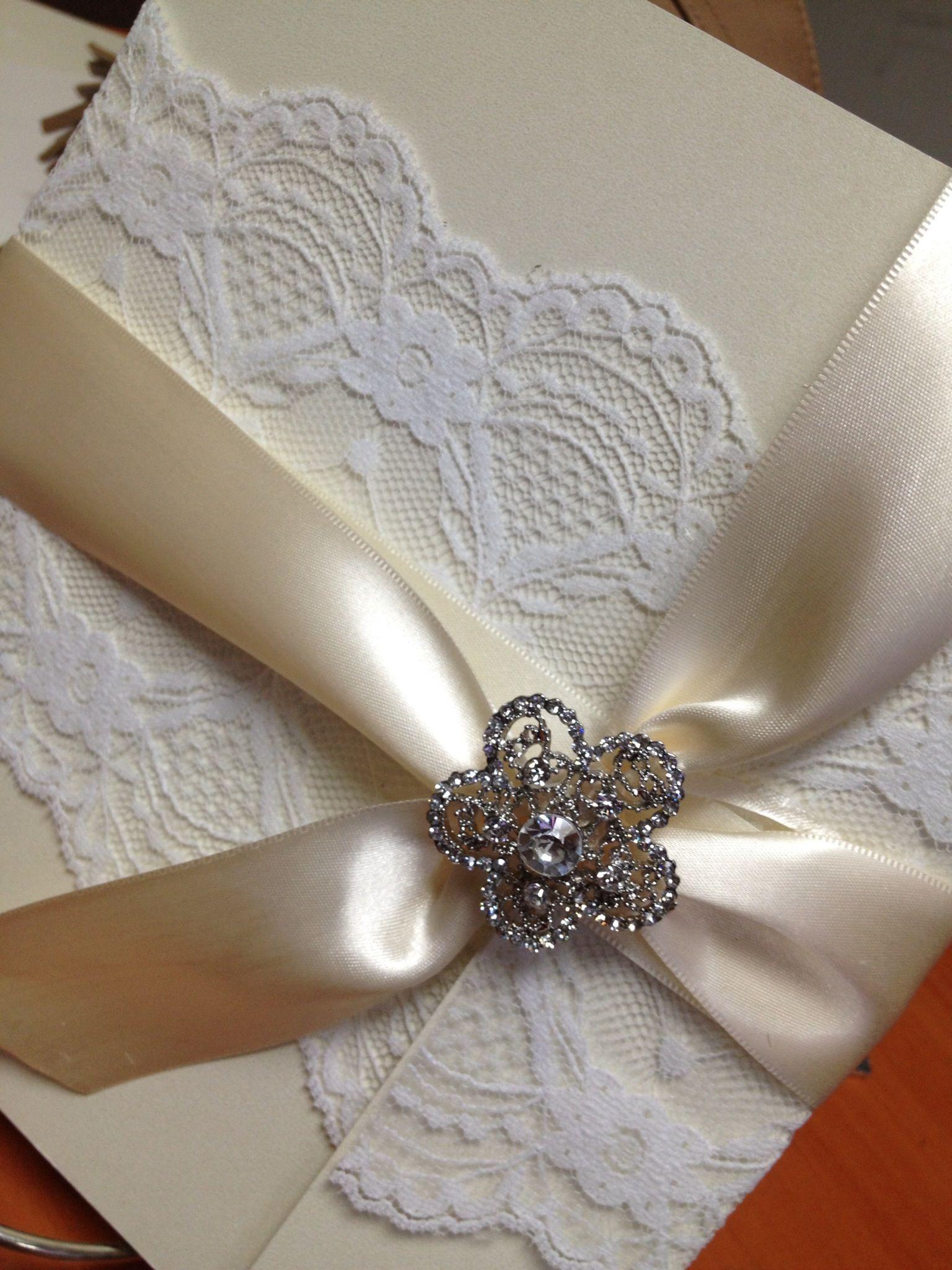 Wedding Invitations Invitaciones Para Boda Con Encaje
