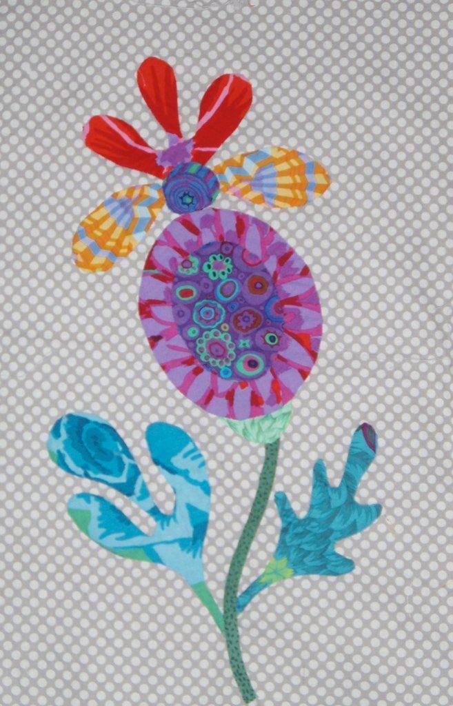 Kim Mc Lean Flower Garden Block | Patchwork und Applikationen