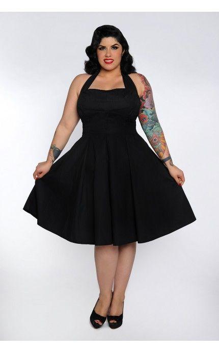 0090fdbb50e Fun  n  Flirty Plus Size Dress in Black