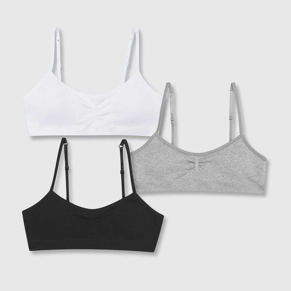 cef57da2426 We've taken comfy to the max with the Hanes Girls' Seamless Bralette Bonus  2pk 1 Free! Available in a variety of cute color combinations these  bralettes are ...