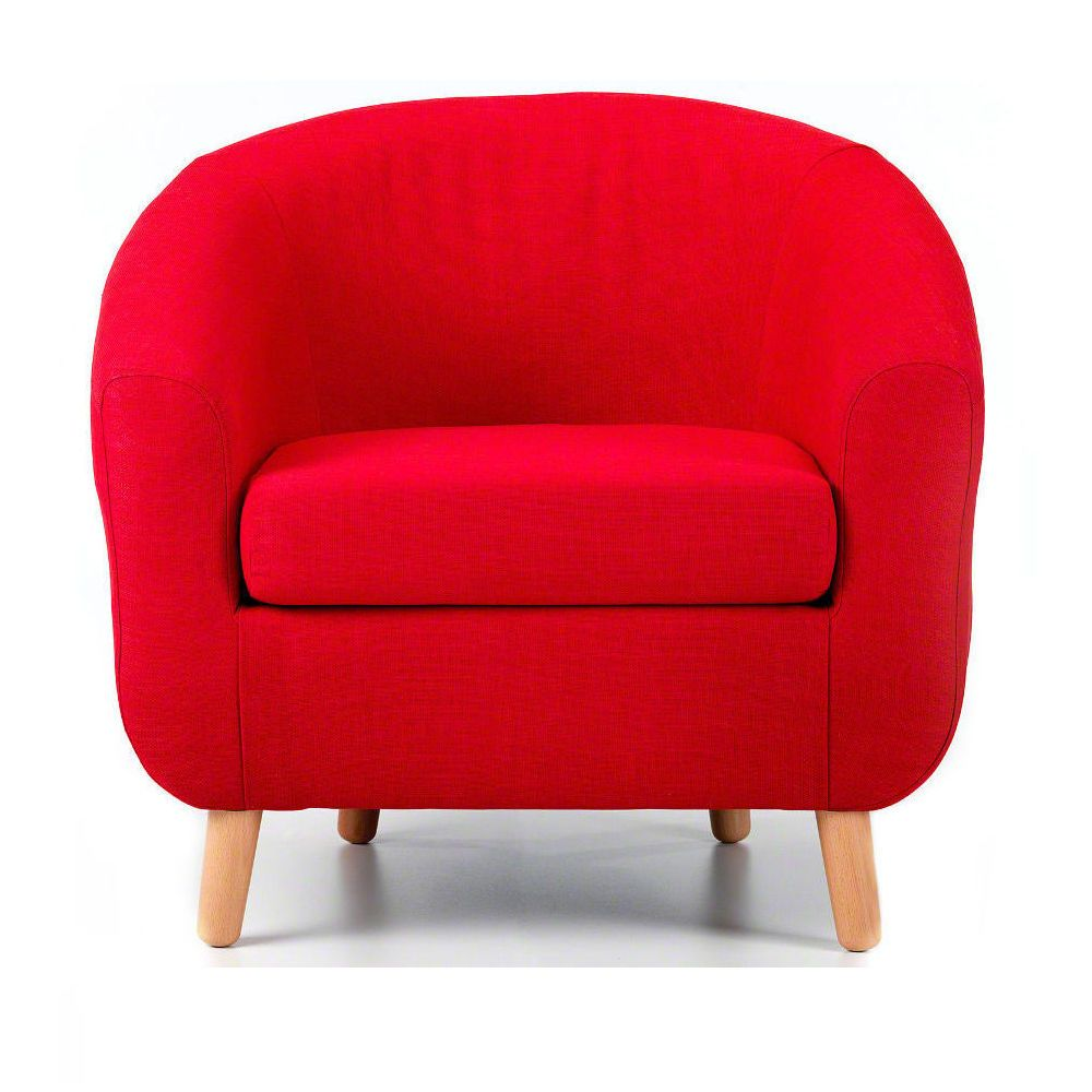 Turin Fabric Tub Chair Red