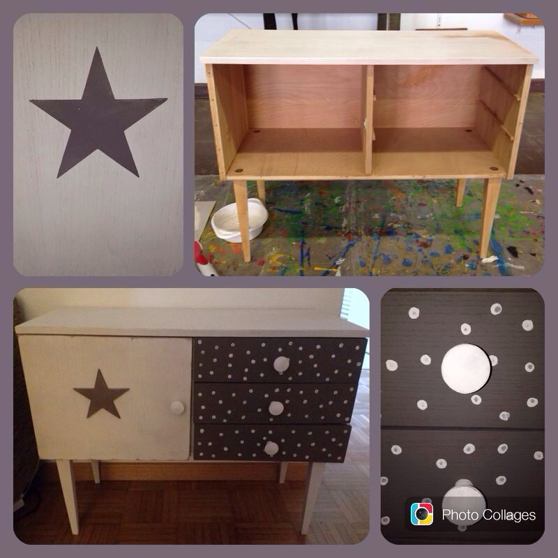 Altes Brocki-Möbel neu aufgepeppt im