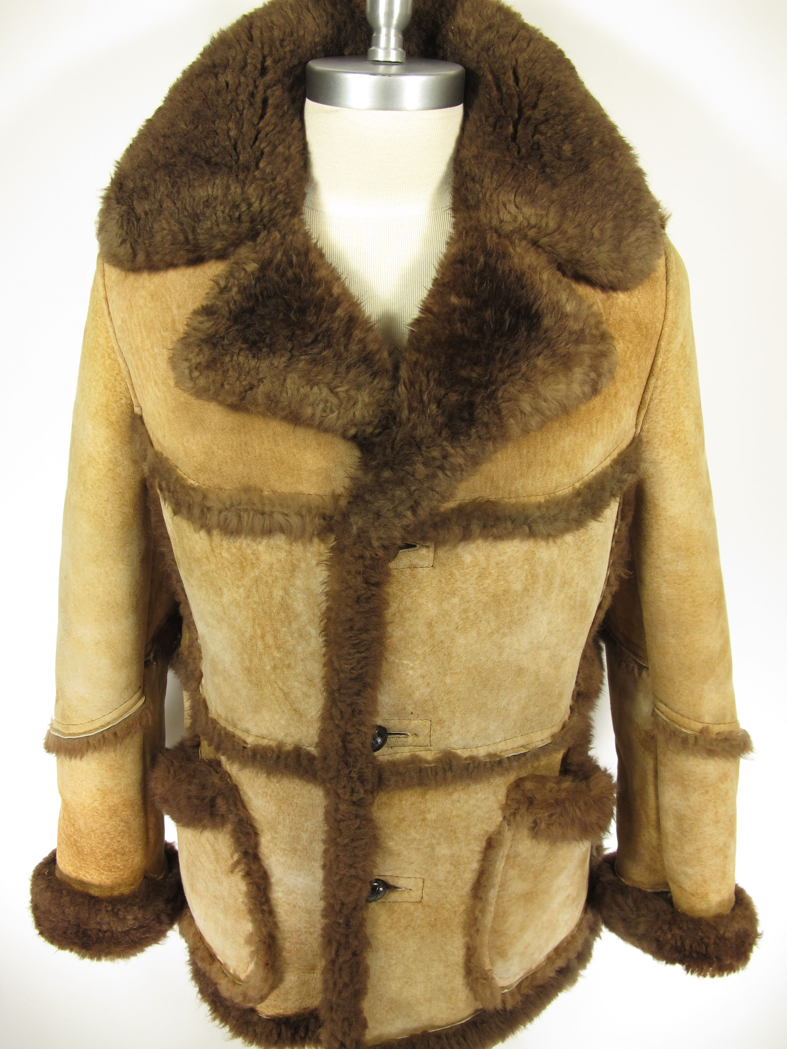 This vintage Marlboro man's sheepskin shearling coat was made by ...