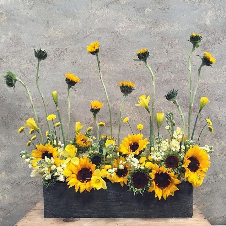 Red Sunflower Arrangements Best 25 Sunflower Arrangements Ideas On Pinterest Sunflower Arrangements Sunflower Floral Arrangements Church Flower Arrangements