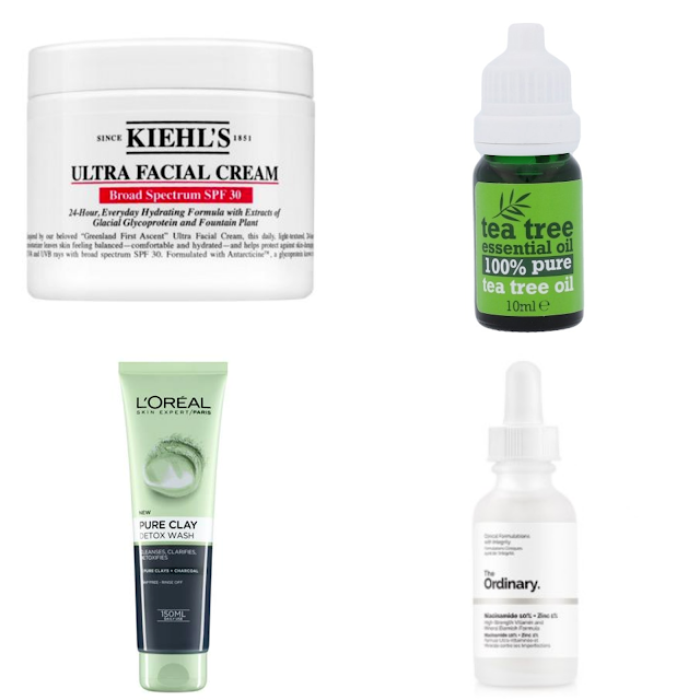Skincare for oily and acne prone skin. Kiehl's ultra