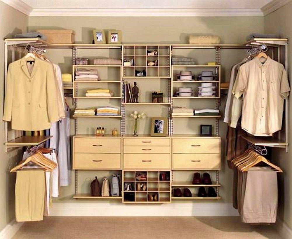 Attrayant Small Walk In Closets Organizers Designs