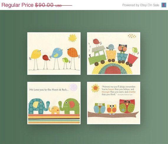 Nursery art prints Baby Room decor Nursery Art by DesignByMaya, $72.00