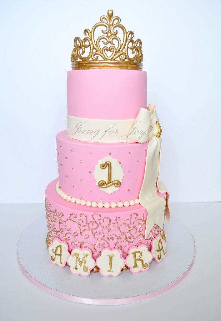 Pink And Gold Birthday Cake Google Search Pink Pinterest