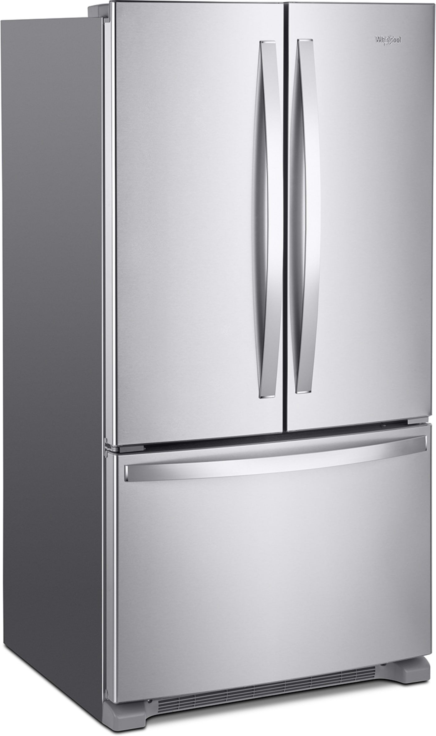 Wrf535swhz By Whirlpool French Door Refrigerators Goedekers Com French Door Refrigerator Glass Shelves Stainless Steel French Door Refrigerator