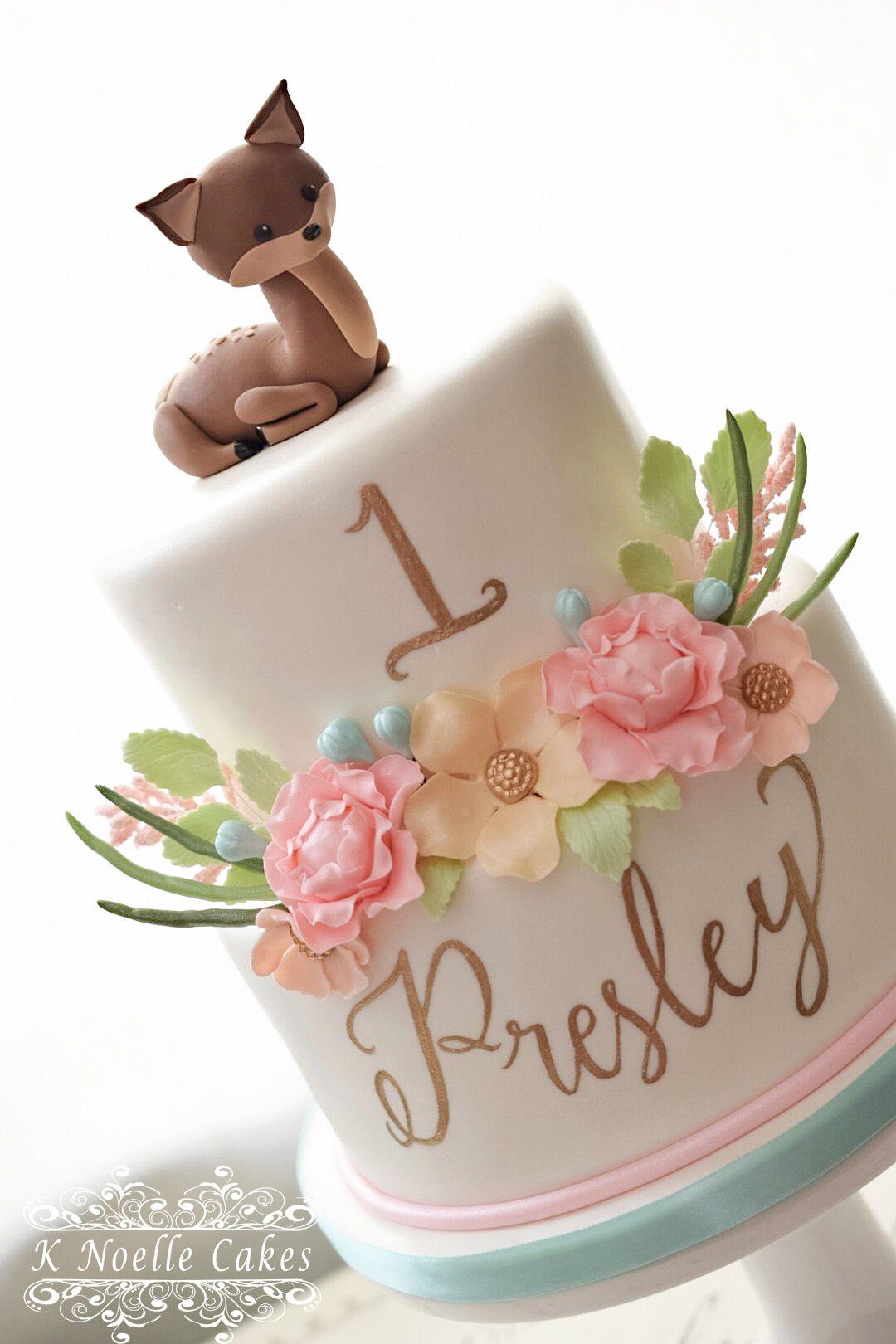 1st Birthday Cake By K Noelle Cake 1st Birthday Cake For Girls