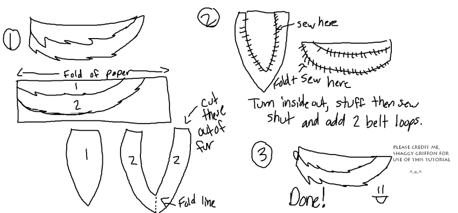 Wolf Tail Tutorial By Gygriffon