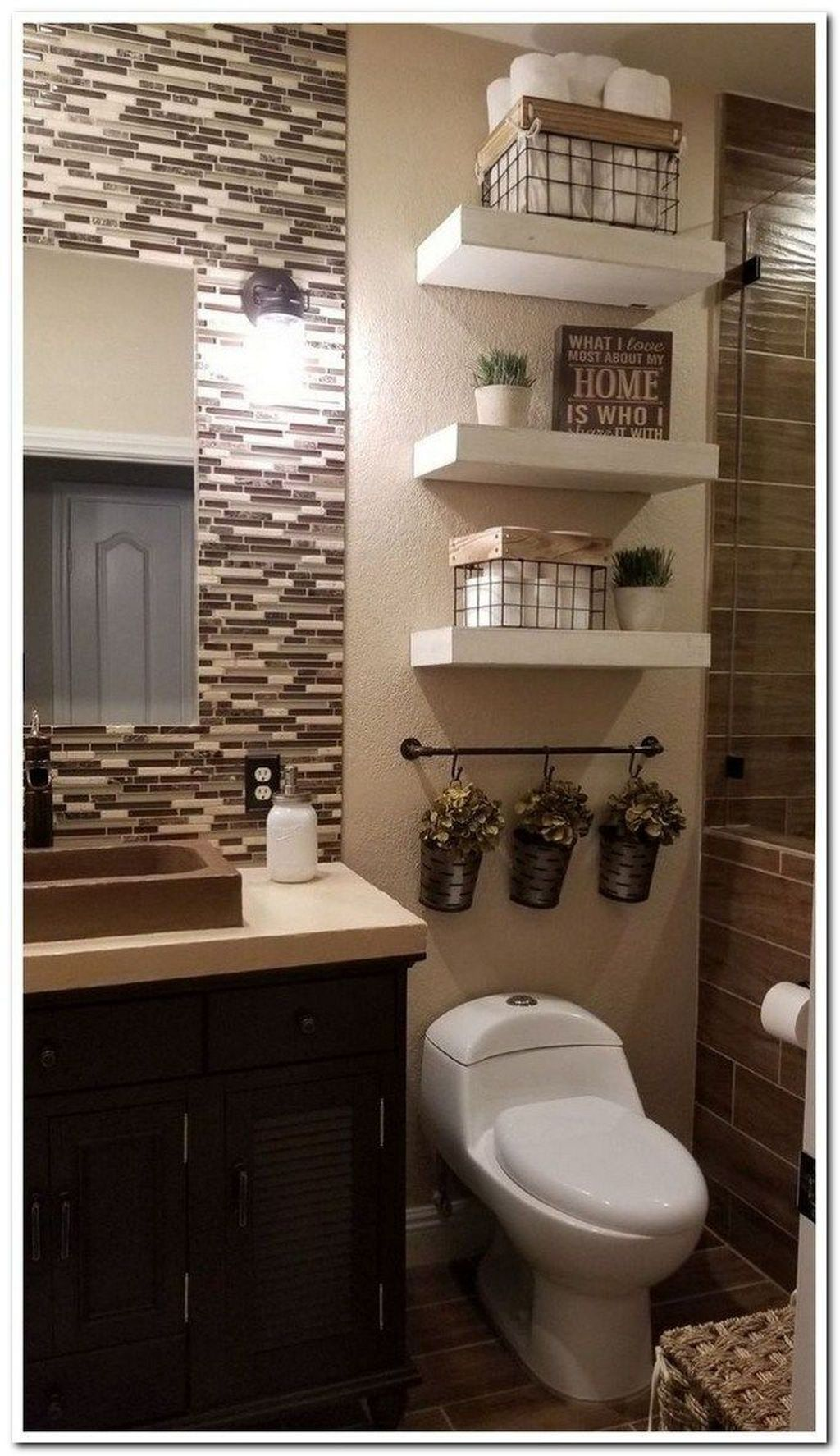 35 Awesome Bathroom Wall Decor Ideas Small Bathroom Remodel Guest Bathroom Decor Small Bathroom Decor