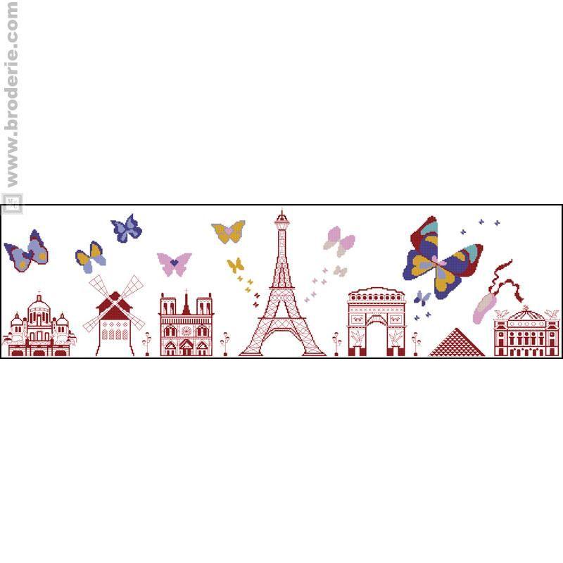 I love paris paris la maison du canevas broderie point de croix et point de croix - La maison de la broderie ...