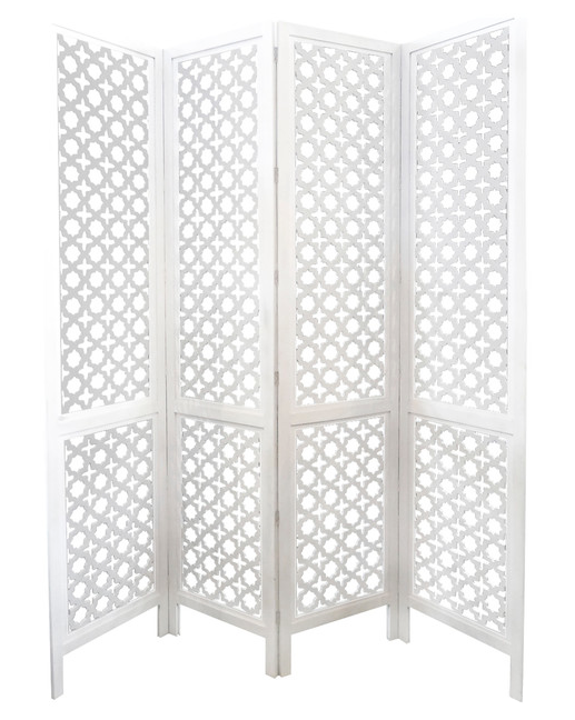 Carved Wood Work White Screen Room Divider On Chairish Roomdividerideas