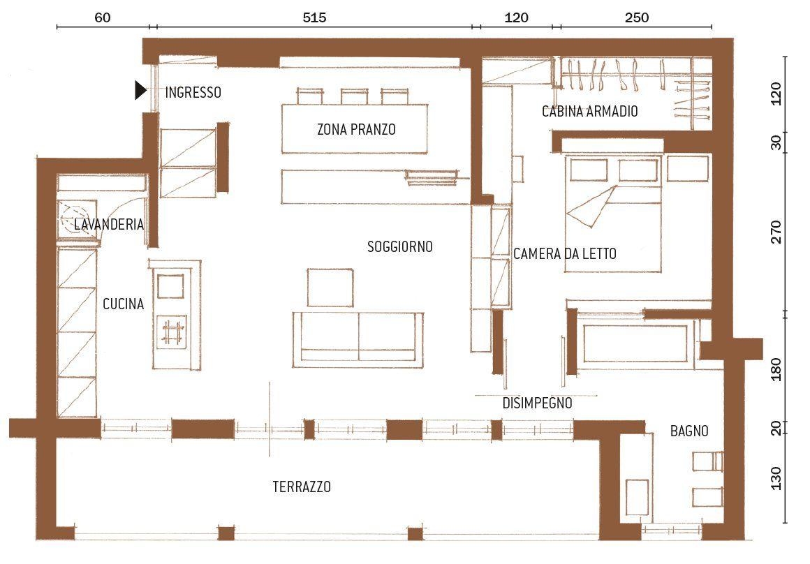 Una Casa Di 65 Mq Con Volumi Funzionali E Originali Quinte Per Dividere Cose Di Casa Case Contemporanee Design Appartamenti Planimetrie Di Case