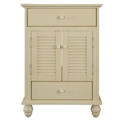 Foremost Cottage 24 in. W x 21-5/8 in. D x 34 in. H Vanity Cabinet Only in Antique White-CTAA2422D - The Home Depot