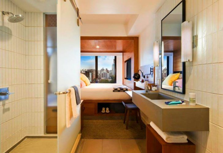 America S First Micro Hotel With 4 Star Design Packs Big Style Into Small Rooms Hotel Room Design Bedroom Design Small Bedroom Designs