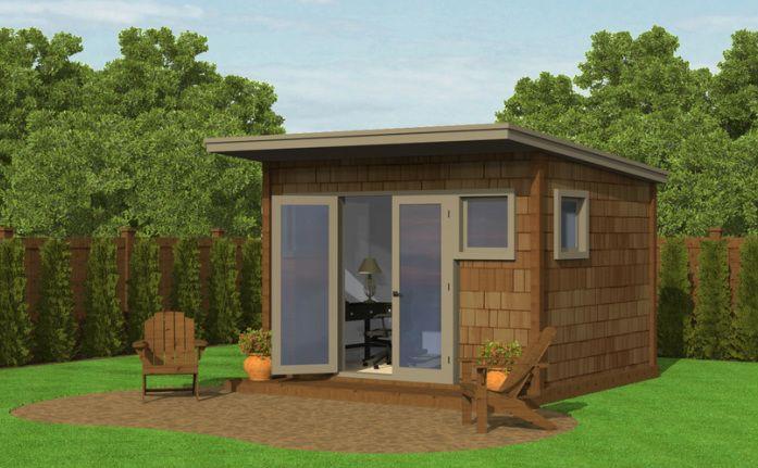 Www Makesomeroom Net 120 Sq Ft Of Room Backyard Buildings Backyard Office Shed