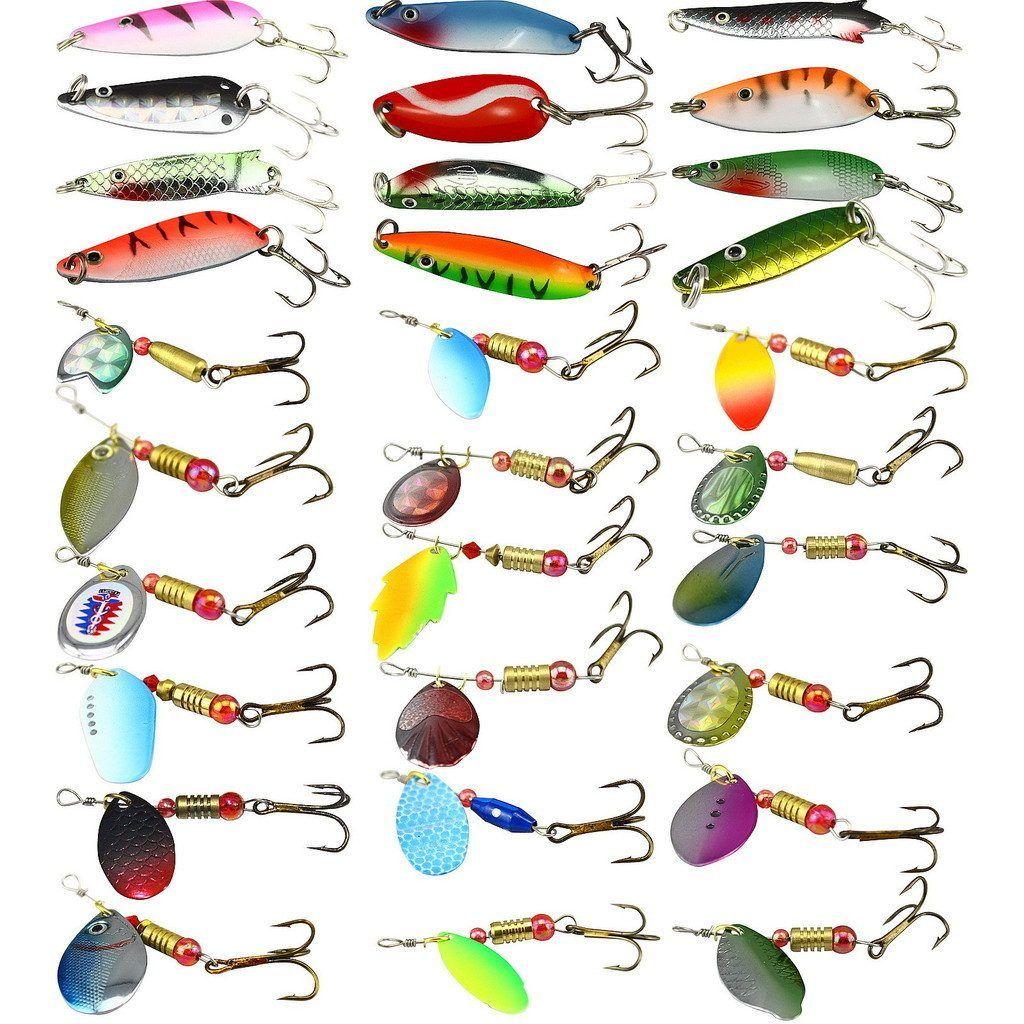 Senuelo Pesca Cuchara Diferentes Acciones Pesca En Mar Y Rio 32 00 Pesca Anzuelo Senuelos De Pesca