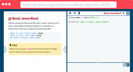 Grok Learning Python Programming   Python Programming   Python