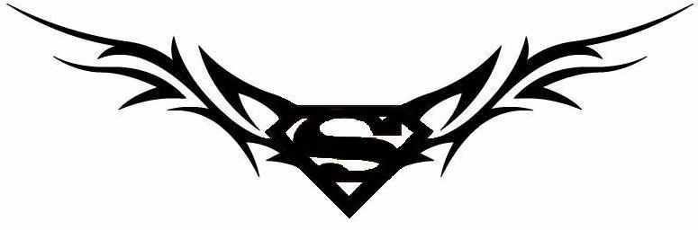 Superman And Tribal Tattoos Superman Tattoos Lower Back Tattoos Maori Tattoo