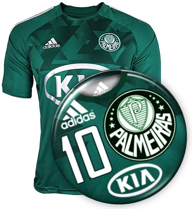 Futebol de botão personalizado do Palmeiras.