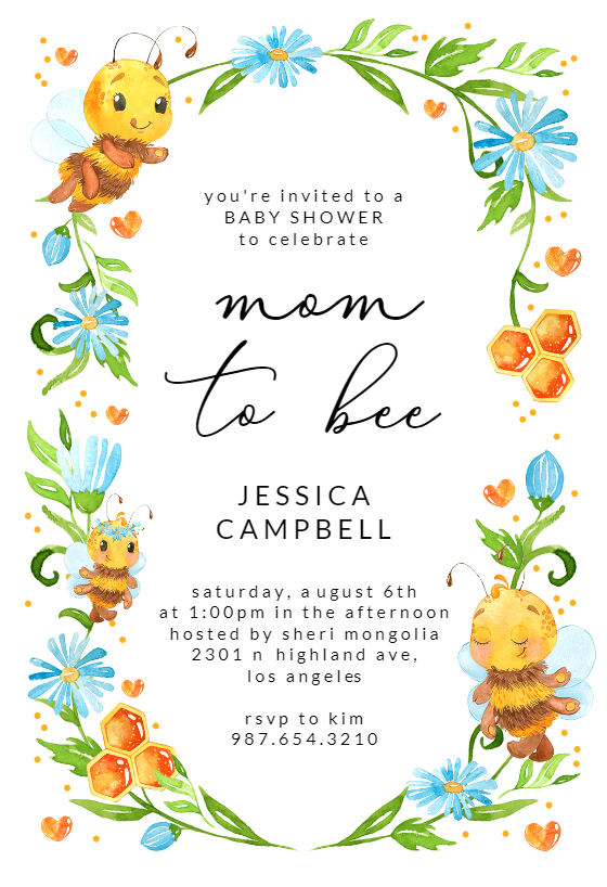 Yummy Mommy Baby Shower Invitation Template Free Greetings Island Baby Shower Invitation Templates Free Baby Shower Invitations Birthday Invitations