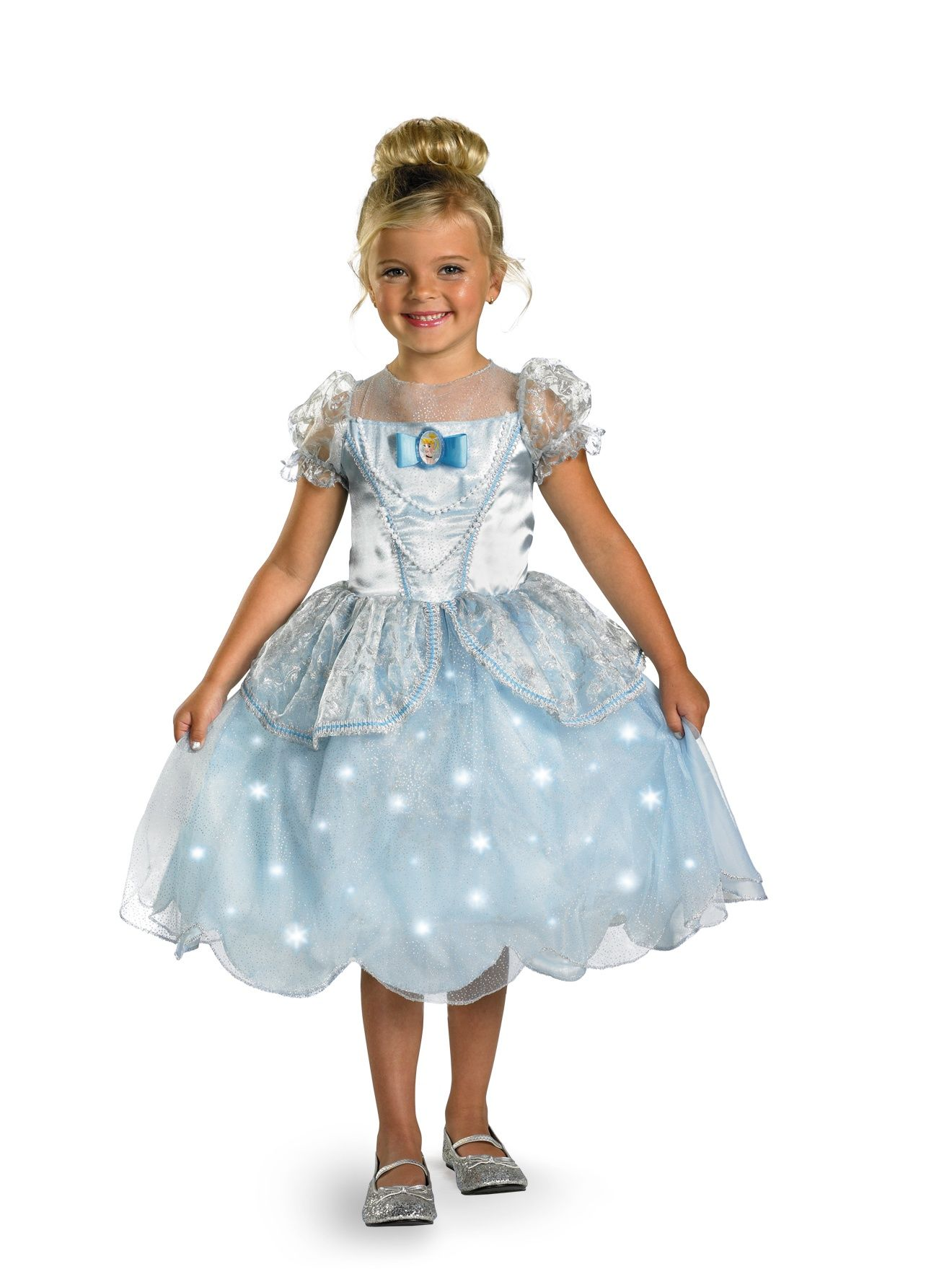 Cinderella Light Up Disney Girl Costume Deluxe | Princess costumes ...