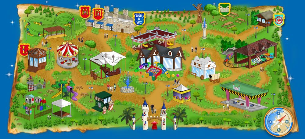 Parco giochi Roma Oasi Park e feste di compleanno a tema per