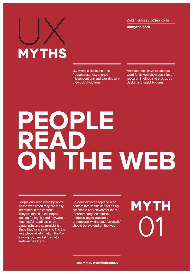 Posteres Sobre Mitos Comuns De Ux Arquitetura De Informacao Poster