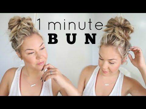 cute hair styles easy how to do a fast bun bun in 2019 8355 | 1791d5d53b8355a2b09df2e6981109b1
