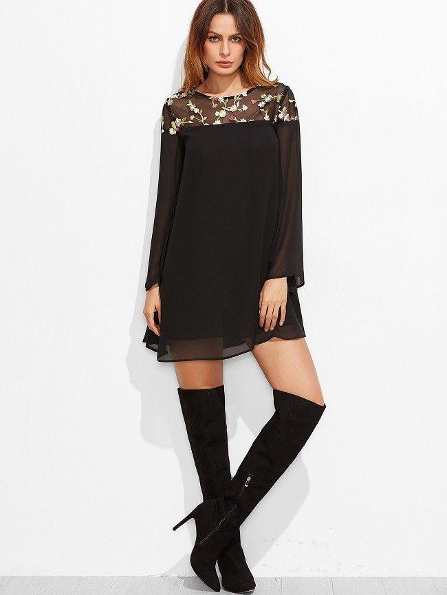 Schwarz weibes kleid schwarz farben