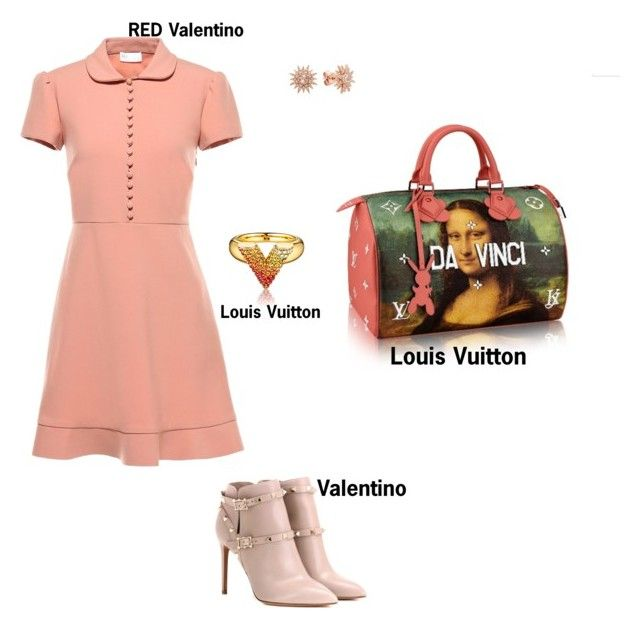 """#fashion #minifashionicon"" by minifashionicon on Polyvore featuring RED Valentino, Valentino and Kenza Lee"