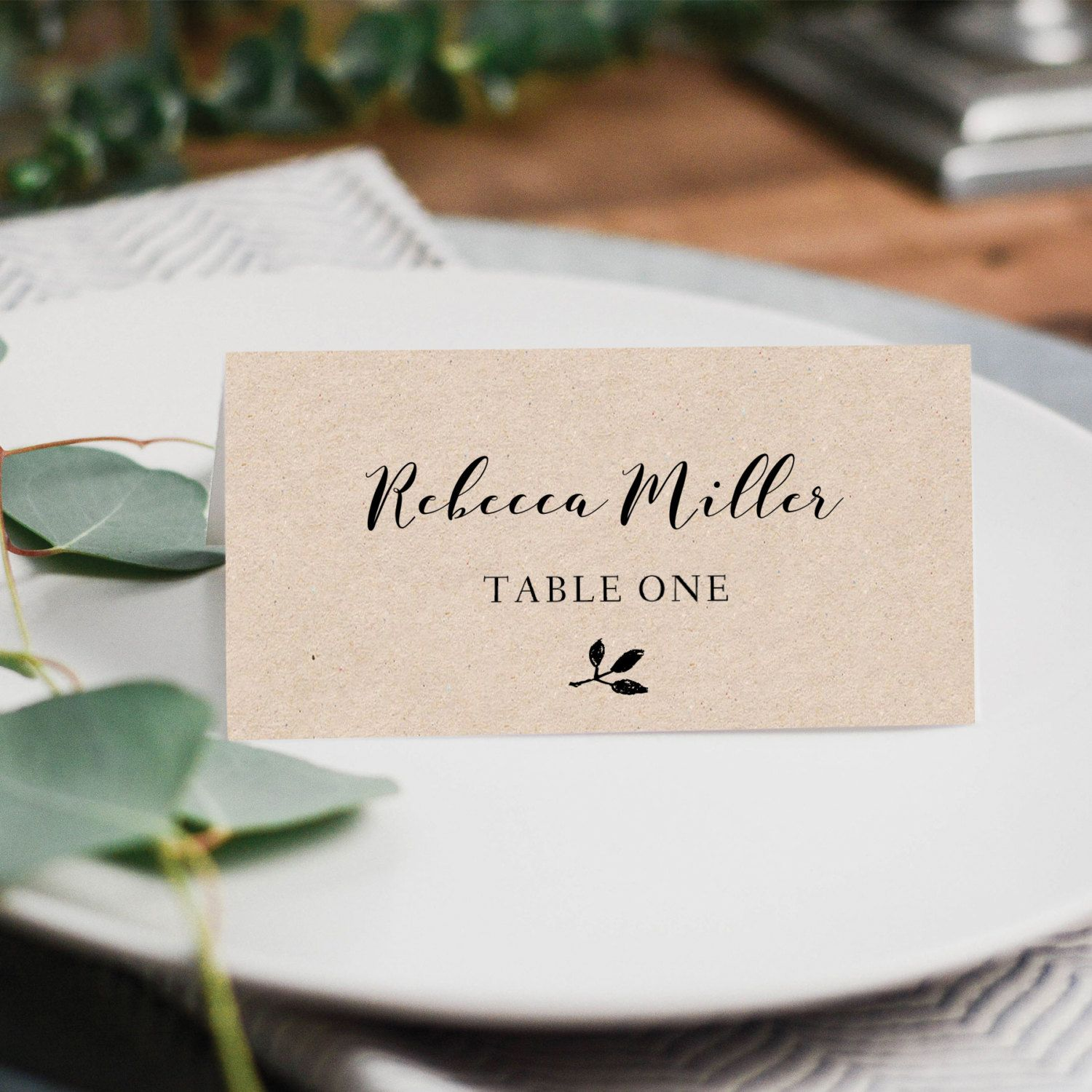 Printable Place Cards Place Card Template Editable Place Cards