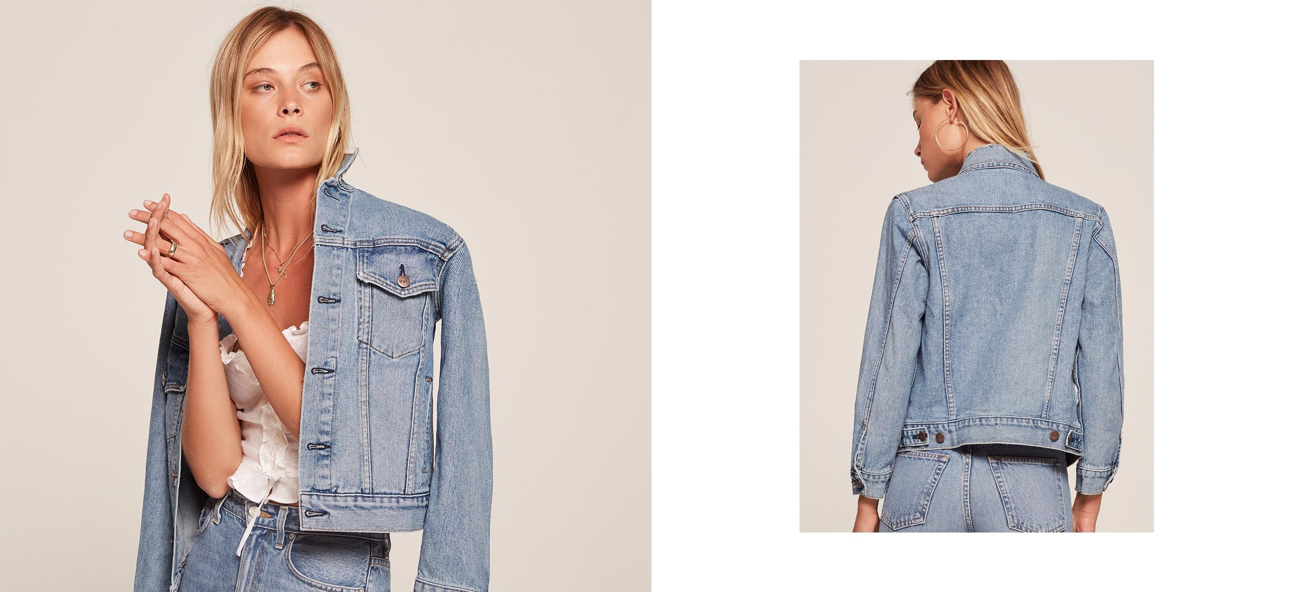 Jean jacket reformation denim and wishful thinking