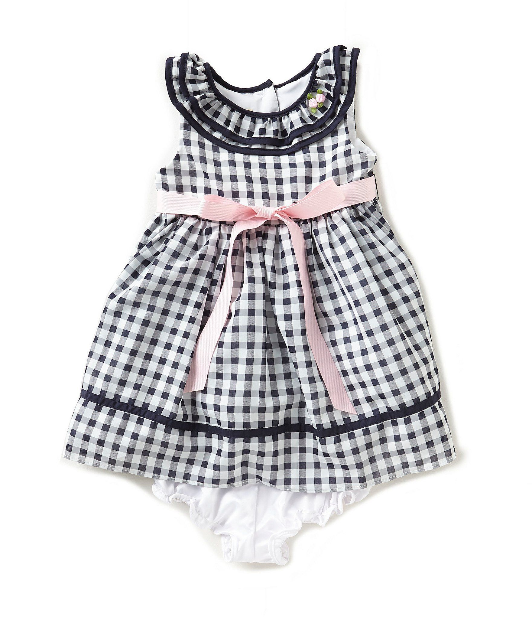 Laura Ashley London Baby Girls Newborn24 Months Checked Bow Dress