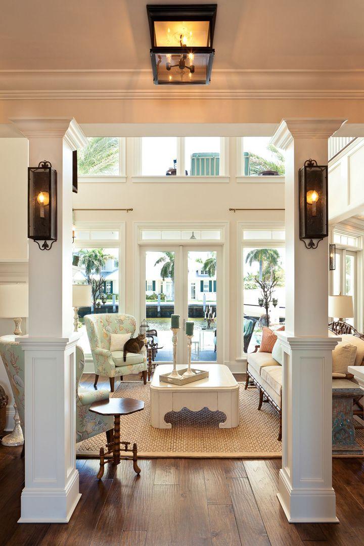 sky decor living interior environments rooms coastal houseofturquoise turquoise spacious basement kitchen area
