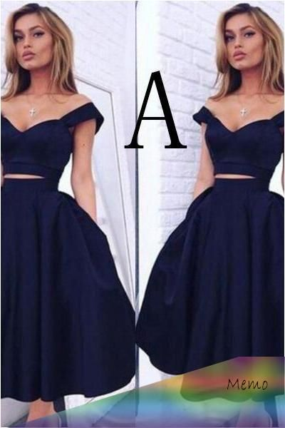 Apr 2, 2020 - Vintage Style A-line Short Prom Dresses,Two ...