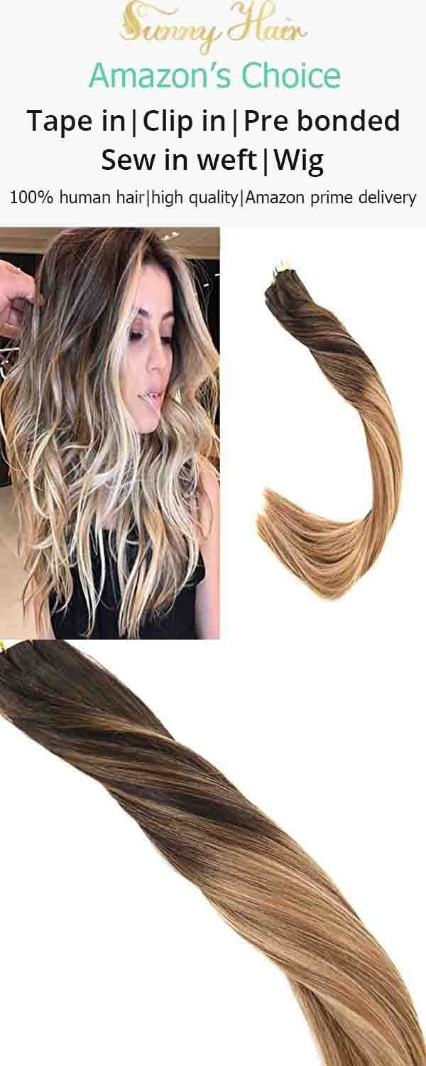 Vesunny Glue In Hair Extensions Color 2 Darkest Brown Fading To 6